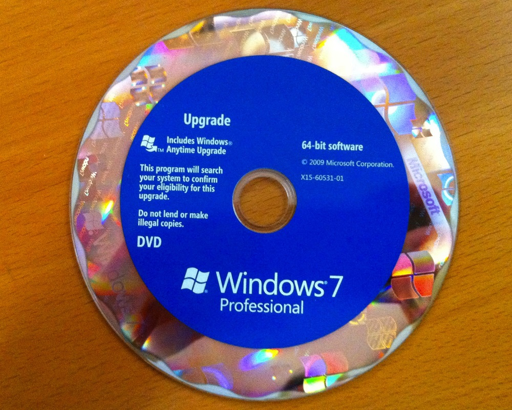 Recovery dvd windows 7 64 bit