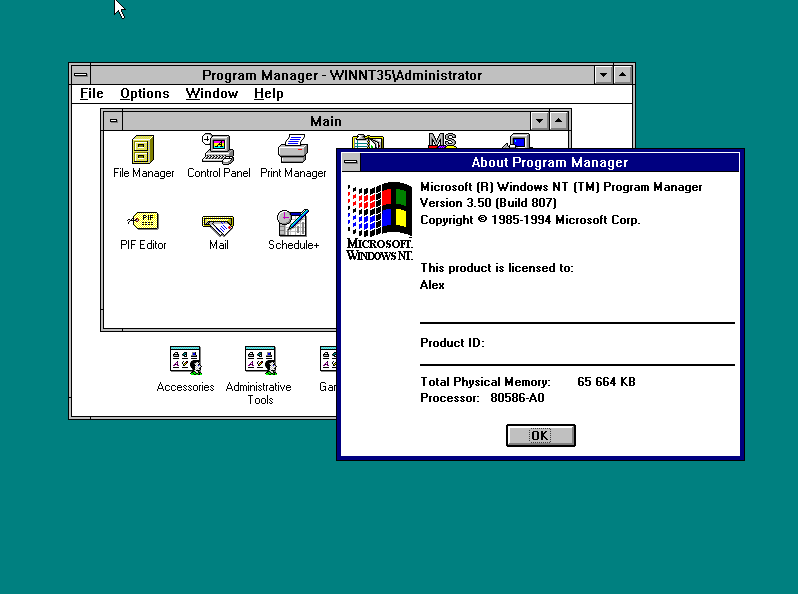 Windows NT 3.5